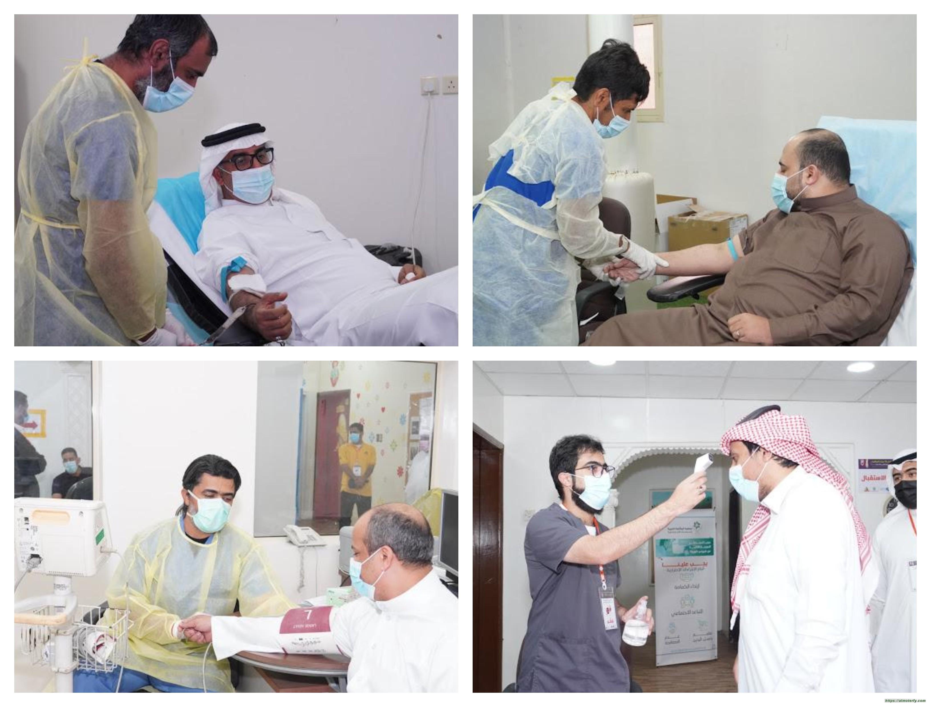 (200) متبرع بالدم خلال أسبوع في حملة معا ننقذ حياة بالأحساء