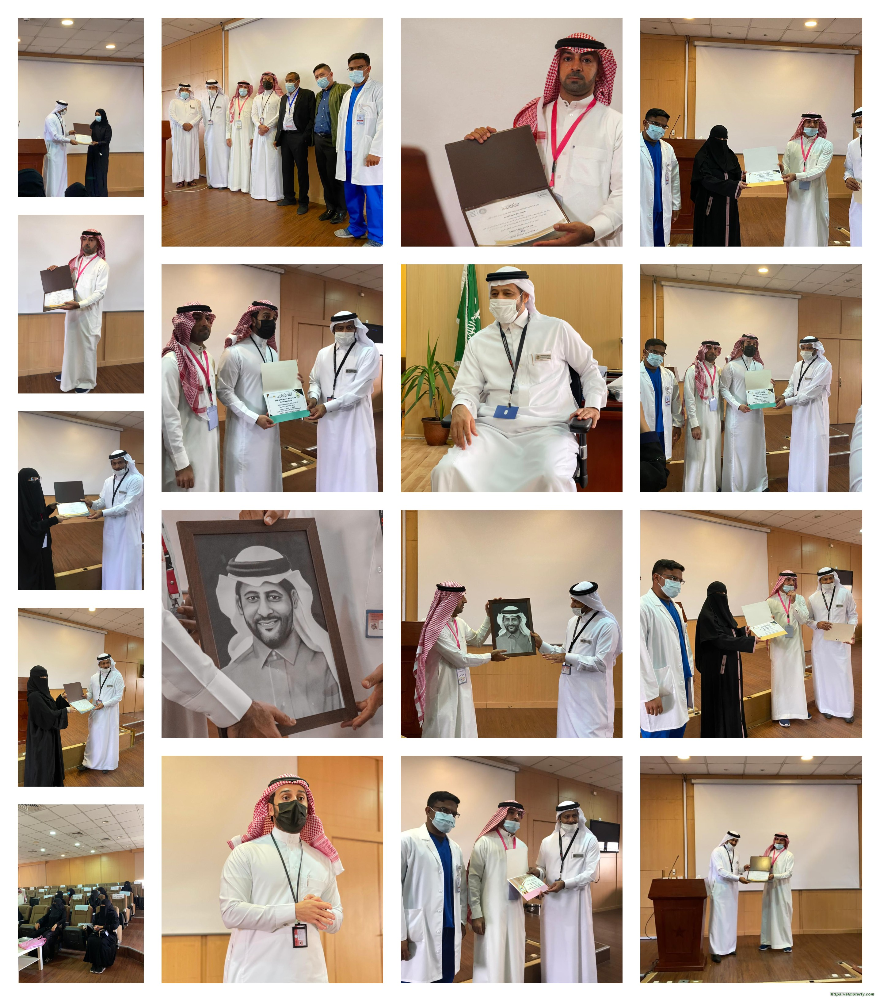 زيارة وفد فريق همسات الثقافي لعميد كلية العلوم الطبية التطبيقية