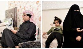 مواطنة سعودية .. تصارع الحياة مع إبنتيها المعاقتان
