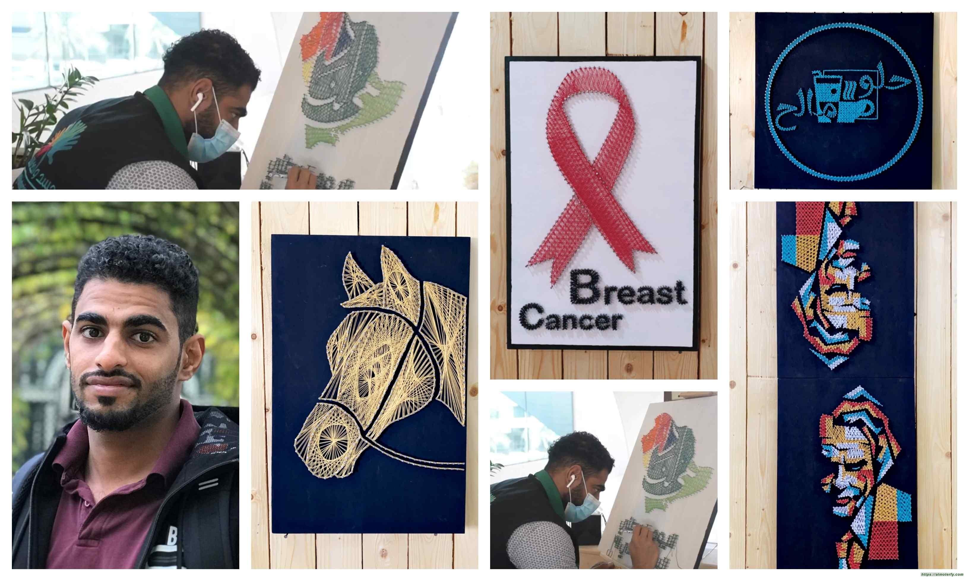الفنان محمد العمران يطلق بواكير فنه في اليوم الوطني
