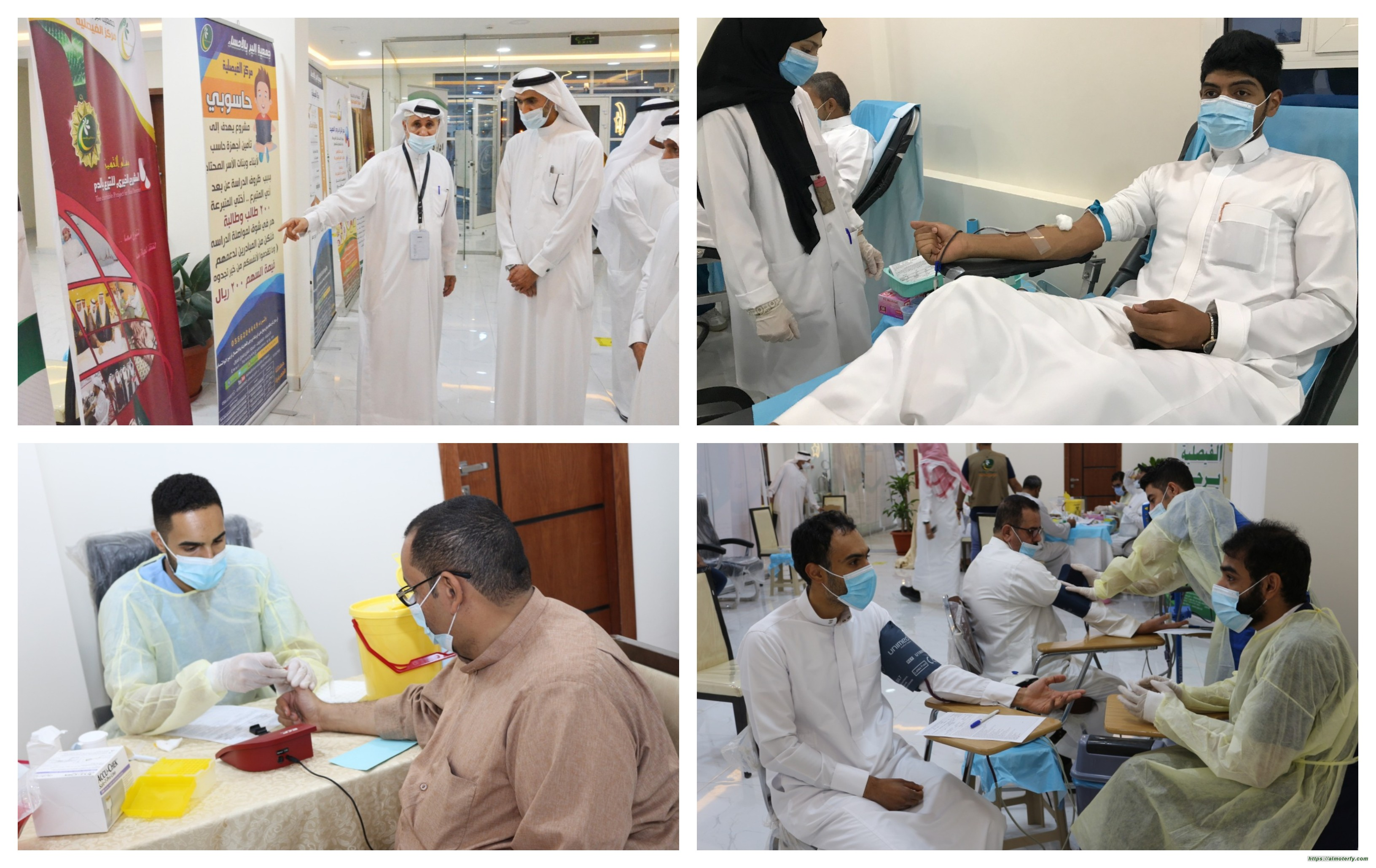 443 متبرع في ختام حملة بر الفيصلية للتبرع بالدم .