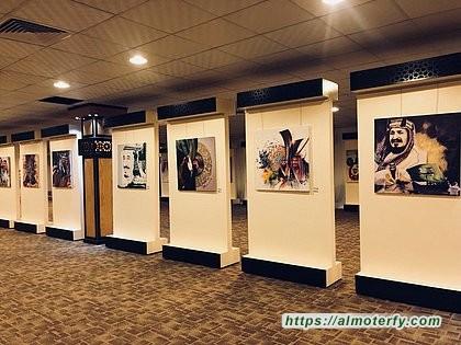 """تحت شعار """" وطن الشموخ """"   صاحبة السمو الملكي الأميرة هيفاء الفيصل تدشن معرض الفنون التشكيلية"""