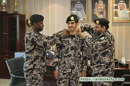 ترقية الملازم أول خالد الرشيدي قائد مركز امن المنشآت بالعثمانية