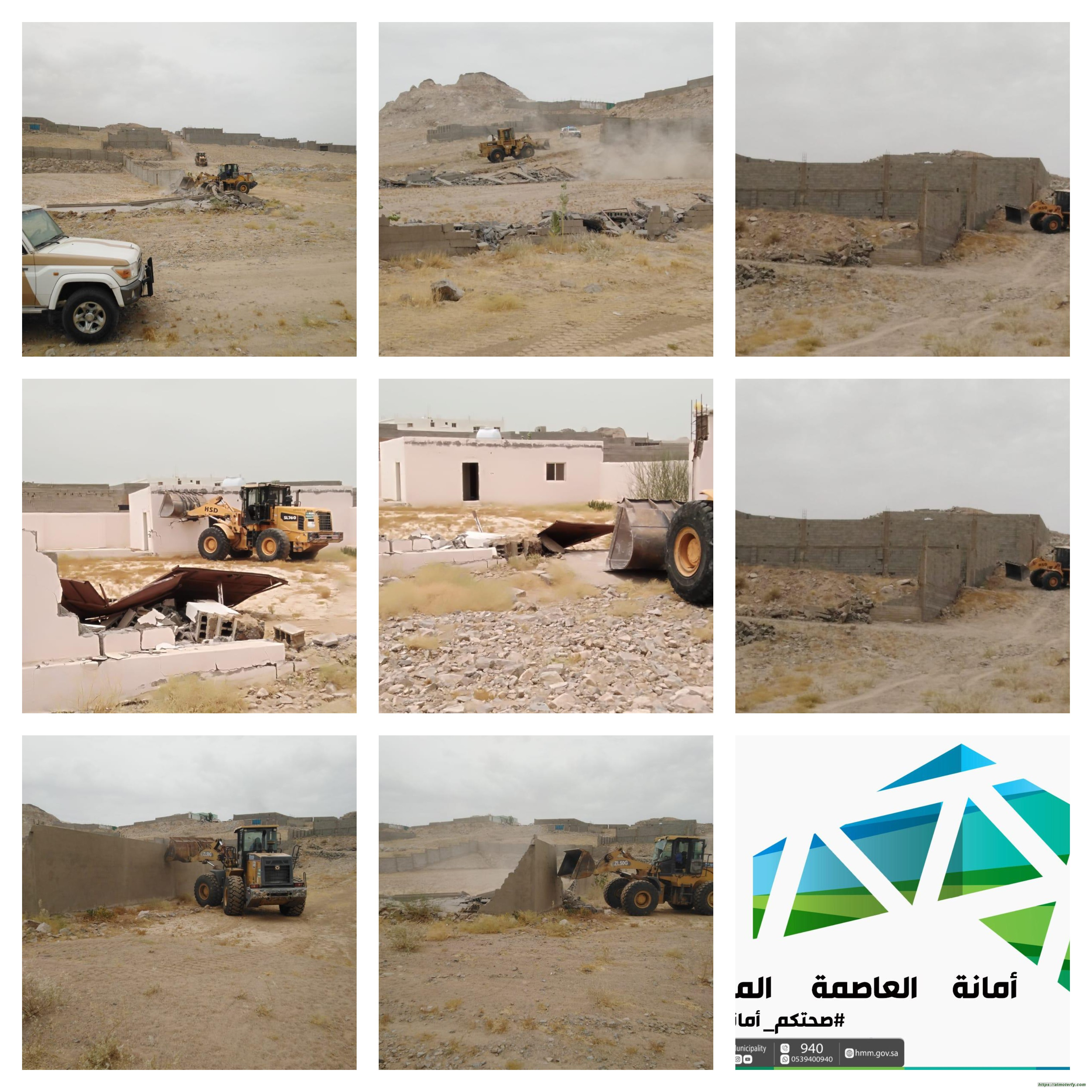 بلدية العمرة الفرعية تزيل مخطط عشوائي في الشميسي