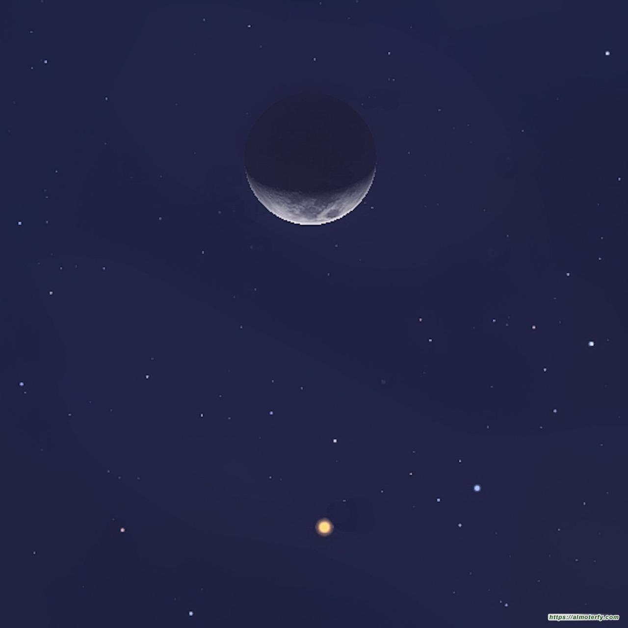 الليلة : « قمر رمضان » يقترن بالمريخ