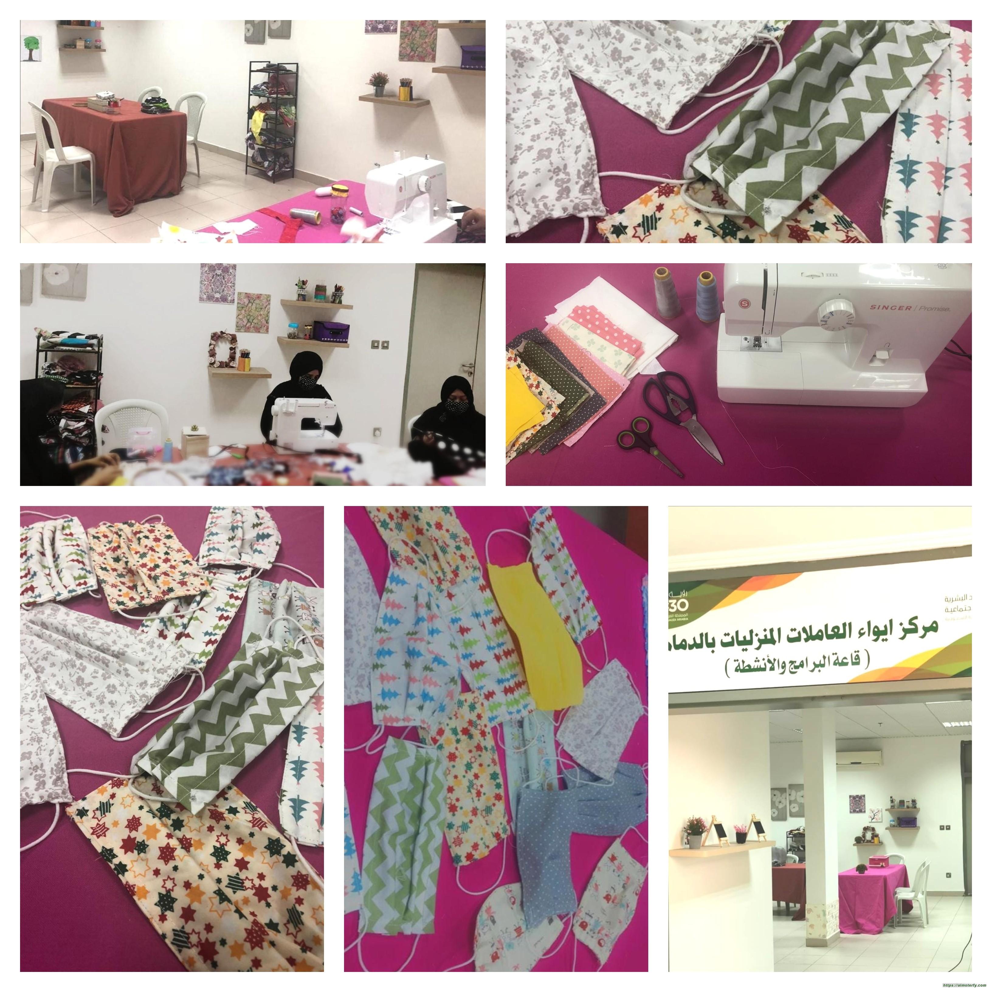 ورش فنية لعاملات مركز إيواء الدمام ضمن برنامج (صنعت بيدي)