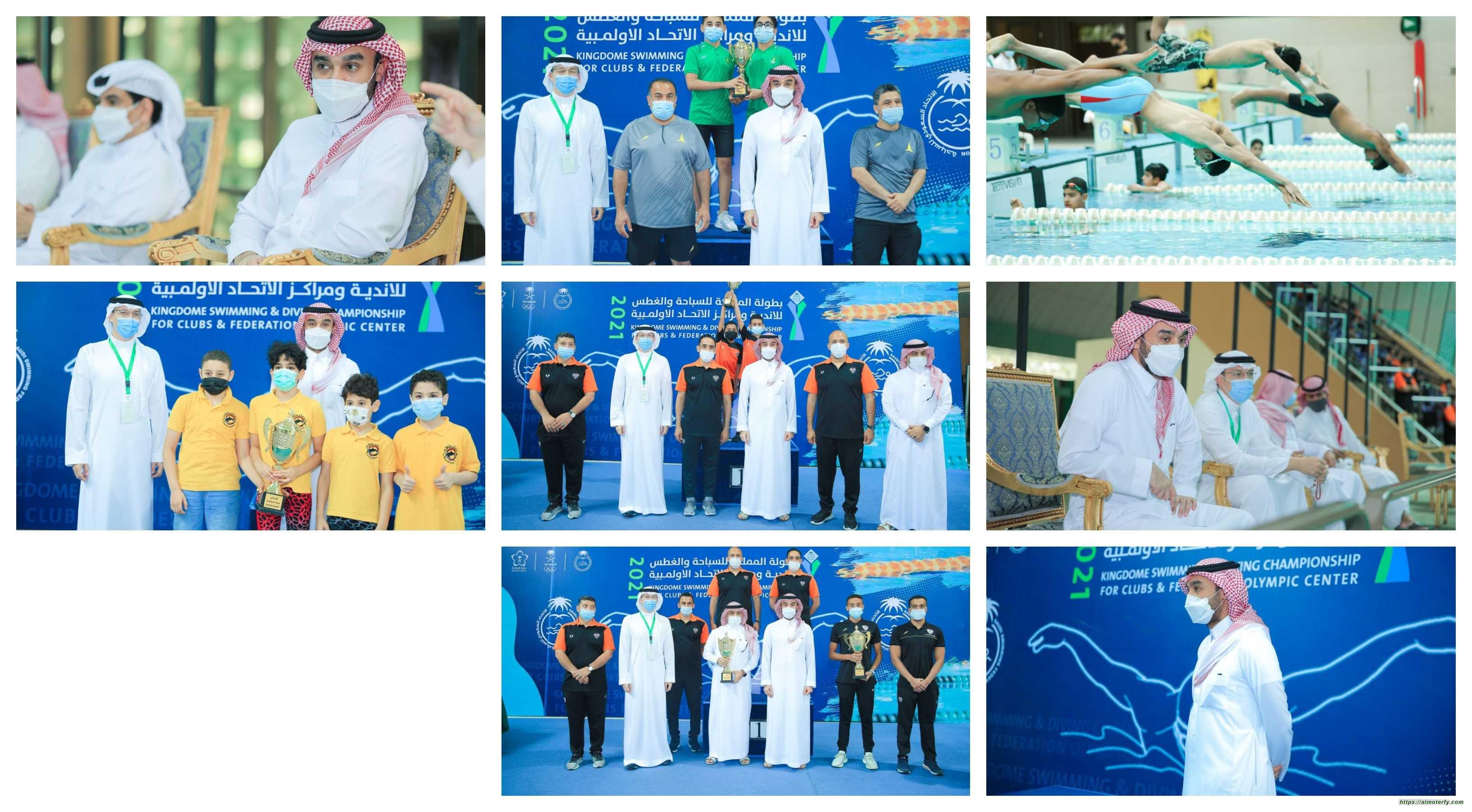 وزير الرياضة يتوج الفائزين في بطولة المملكة للسباحة والغطس