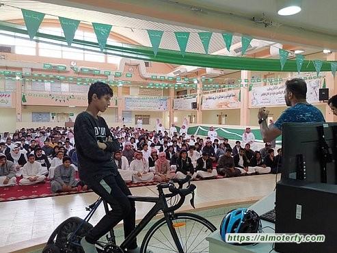 دراجي الأسطول الشرقي في مدرسة الأبناء