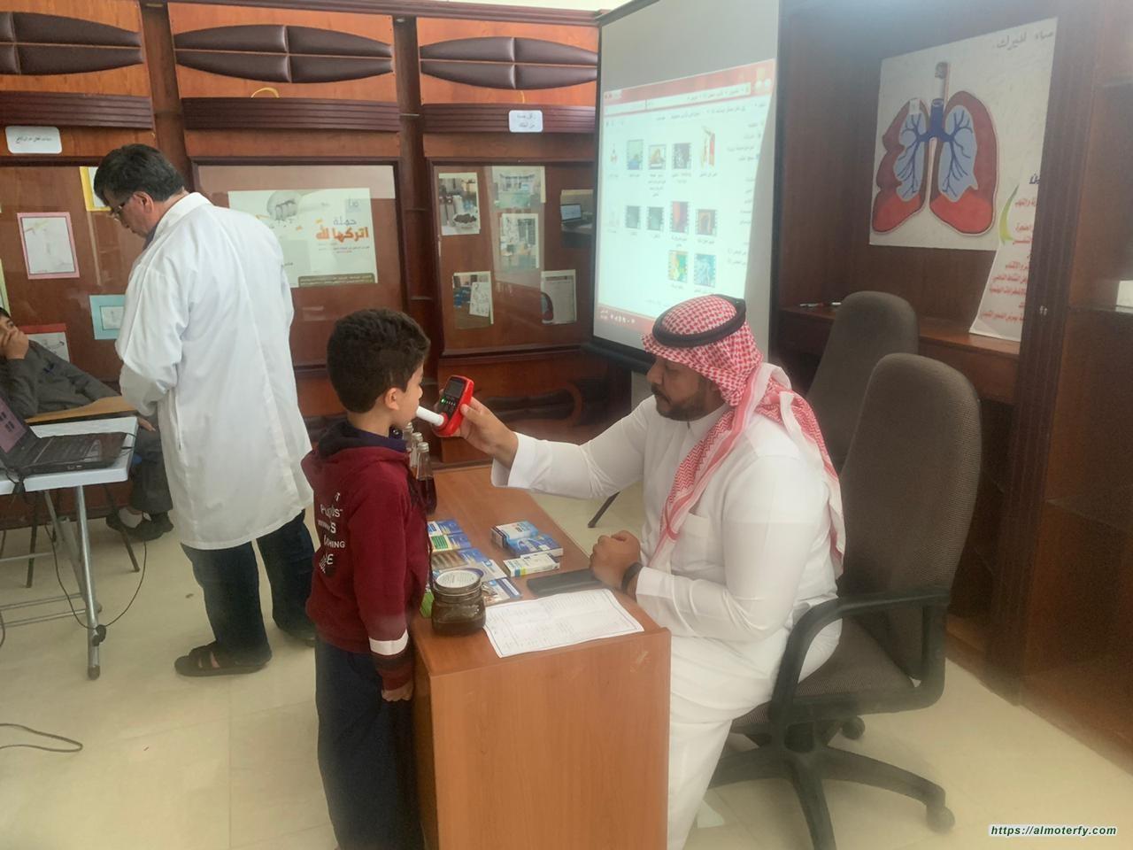 جمعية مكافحة التدخين الخيرية ( نقاء) تستضيف ابتدائيةابن الهيثم بالهفوف
