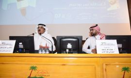 كبير المذيعين في التلفزيون السعودي .. جبريل أبو دية  في أدبي الأحساء :