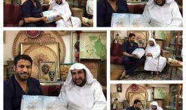 آية الله السيد محمد رضا يهدي مجموعته الشعريه لمجموعة النورس الثقافية