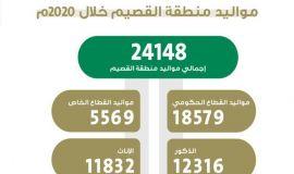 24148 مولود في القصيم خلال العام 2020