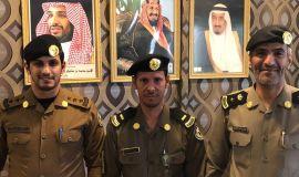 قائد دوريات امن الطرق بالأحساء يقلد البقمي رتبته الجديدة (( رئيس رقباء ))