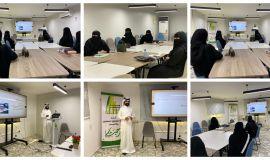 ورشة عمل بعنوان( مهارات المراسلين الميدانيين ) لطالبات الإعلام في كلية الاداب بجامعة الملك فيصل