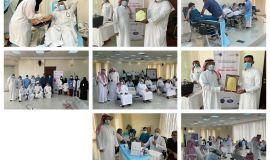"""""""القحطاني"""" يدشن حملة التبرع بالدم بالتعاون مع تجمع الاحساء الصحي بمقر القسم النسائي بمكتب الضمان الاجتماعي بالأحساء"""