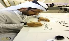 عندما تتراقص الحروف بين يديه لقاء حواري مع فنان الخط العربي