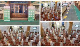 مشاهد الفرحة من اليوم الأول بعد فتح جامع الامام الحسين ومسجد الامام علي بالمبرز .