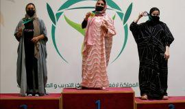 بمشاركة 35 رباعة اختتام بطولة المملكة لرفع الأثقال الأولى للسيدات .