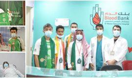التاج ينفذ مبادرة التبرع بالدم بالشراكة مع مستشفى الموسى ويتواجد في احتفالات المستشفى باليوم الوطني