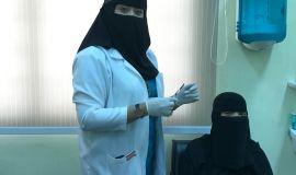 مستشفى الجفر العام ينفذ حملة تطعيم ضد الانفلونزا في الكلية التقنية للبنات